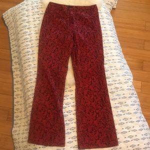 Brocade print trousers
